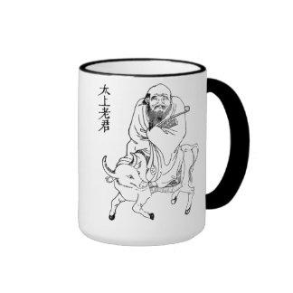 Pintura china de la dinastía de Tzu Ming del Lao Taza