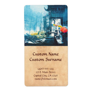 Pintura china del paisaje de Chou Xing Hua Suzhou Etiquetas De Envío