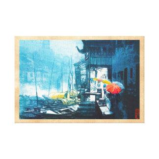 Pintura china del paisaje de Chou Xing Hua Suzhou Impresion De Lienzo
