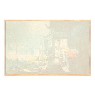 Pintura china del paisaje de Chou Xing Hua Suzhou Papeleria Personalizada