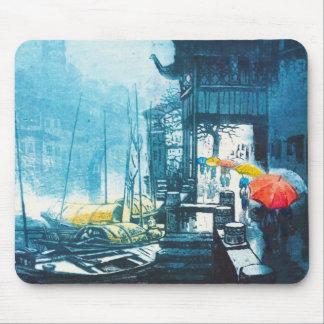 Pintura china del paisaje de Chou Xing Hua Suzhou Tapetes De Ratones