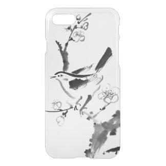 Pintura china, flor del ciruelo y pájaro funda para iPhone 7