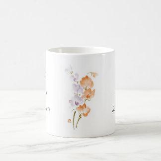 Pintura china oriental clásica c de la flor de la taza clásica