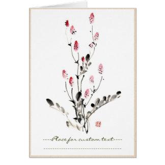 Pintura china oriental clásica de la flor de la ti tarjeta pequeña