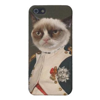 Pintura clásica del gato gruñón iPhone 5 carcasa
