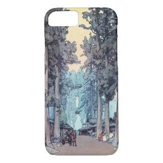 Pintura clásica japonesa fresca del bosque de funda iPhone 7