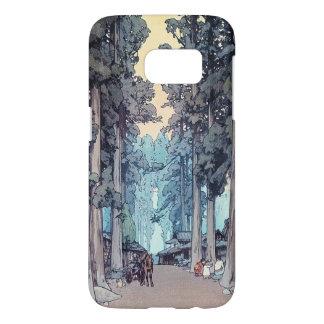 Pintura clásica japonesa fresca del bosque de funda samsung galaxy s7