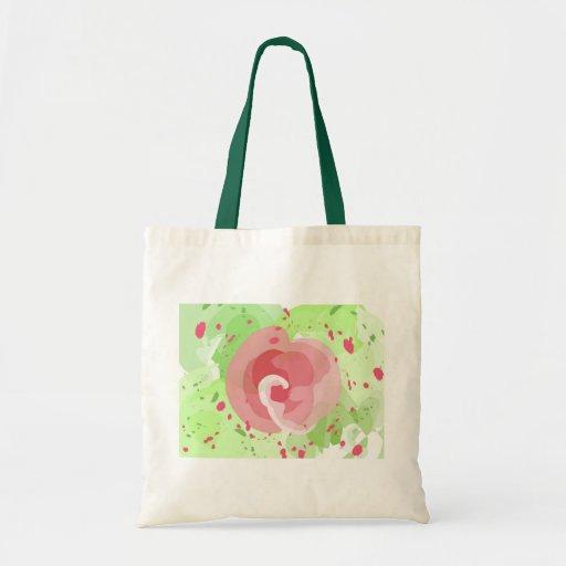 Pintura color de rosa bolsa tela barata