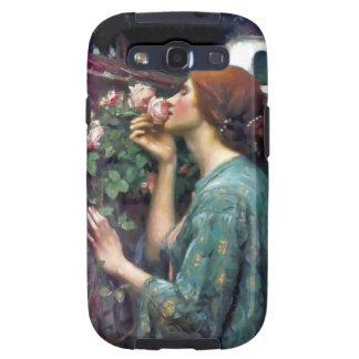 Pintura color de rosa perfumada del Waterhouse Samsung Galaxy S3 Carcasas