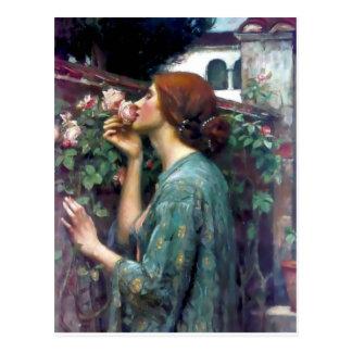 Pintura color de rosa perfumada del Waterhouse Postal