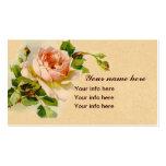 Pintura color de rosa rosada de la acuarela del es plantillas de tarjetas personales
