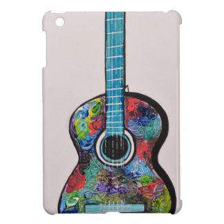 Pintura colorida abstracta de la guitarra por