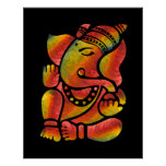 Pintura colorida de Ganesha Posters
