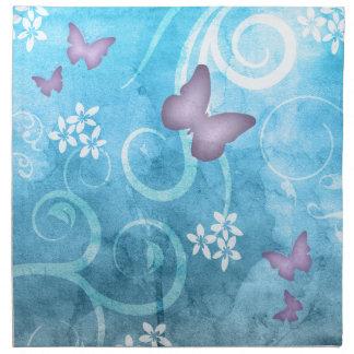 Pintura colorida de la acuarela de la mariposa servilleta de papel