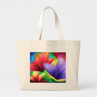 Pintura colorida de la mariposa - multi bolsas de mano