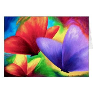 Pintura colorida de la mariposa - multi tarjeta de felicitación