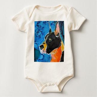 Pintura colorida de la tinta del alcohol del perro trajes de bebé