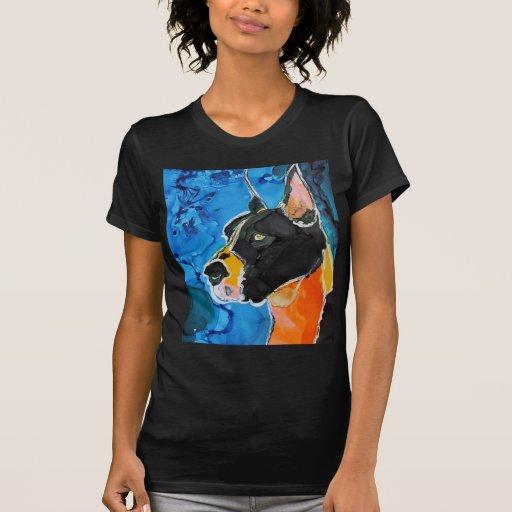 Pintura colorida de la tinta del alcohol del perro camisetas