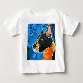 Pintura colorida de la tinta del alcohol del perro t shirt