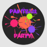 Pintura colorida de las salpicaduras del fiesta de pegatina redonda