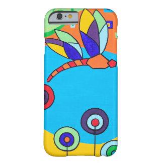 Pintura colorida de Lolipop de la libélula Funda De iPhone 6 Barely There