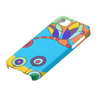 Pintura colorida de Lolipop de la libélula iPhone 5 Funda