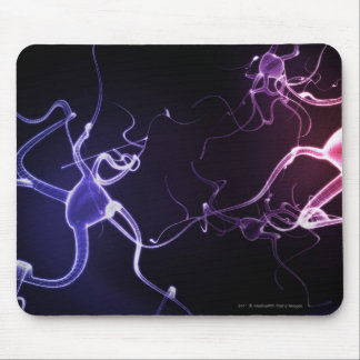 Pintura colorida de neuronas mousepads