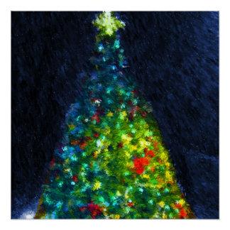 Pintura colorida del árbol de navidad