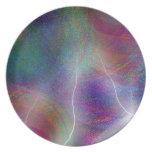 Pintura colorida del arte abstracto platos para fiestas