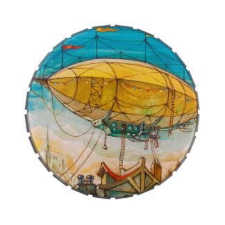 Pintura colorida del dirigible no rígido latas de dulces