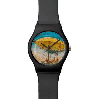 Pintura colorida del dirigible no rígido reloj