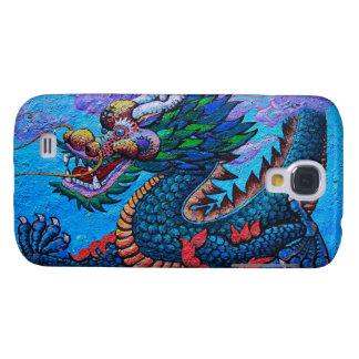 Pintura colorida del dragón del aceite chino orien funda para galaxy s4