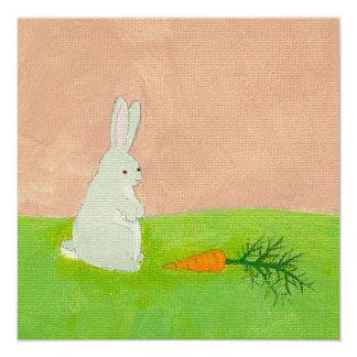 """Pintura colorida fresca del arte moderno de la invitación 5.25"""" x 5.25"""""""