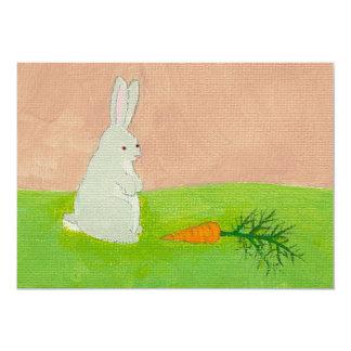 """Pintura colorida fresca del arte moderno de la invitación 5"""" x 7"""""""