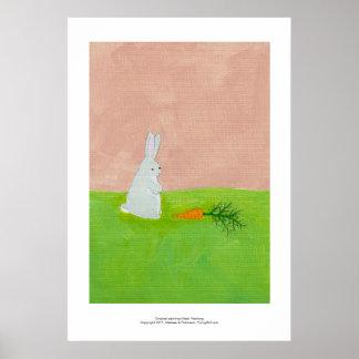 Pintura colorida fresca del arte moderno de la zan póster