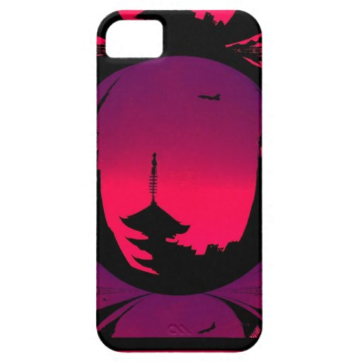 Pintura colorida ideal oriental iPhone 5 funda