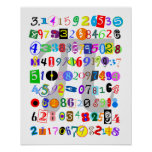 Pintura colorida y de la diversión del pi poster