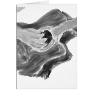Pintura con el brazo, arte de la guitarra acústica tarjeta pequeña