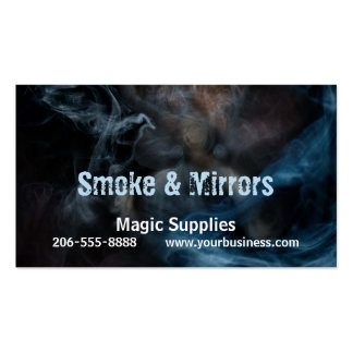 Pintura con humo tarjetas de visita