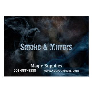 Pintura con humo tarjetas de visita grandes