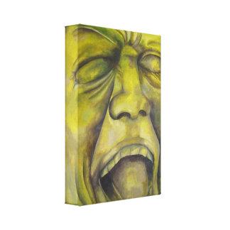 Pintura contemporánea del retrato - montaña rusa impresión en lienzo