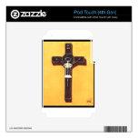 Pintura cristiana del crucifijo iPod touch 4G calcomanías