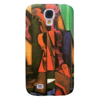 Pintura cubista del violín y de la guitarra del ar funda samsung s4