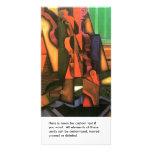 Pintura cubista del violín y de la guitarra del ar plantilla para tarjeta de foto
