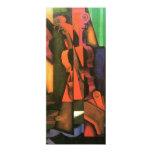 Pintura cubista del violín y de la guitarra del invitación 10,1 x 23,5 cm