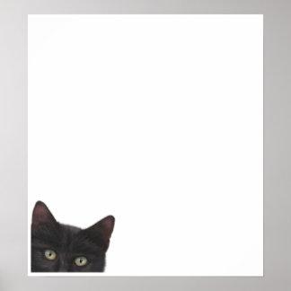 Pintura curiosa de Digitaces del gatito Póster