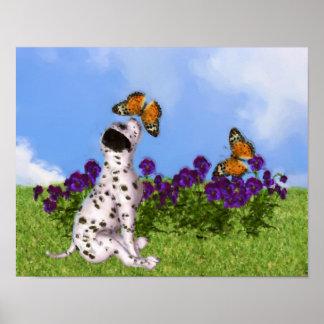 Pintura dálmata de la foto del arte del perro de l impresiones