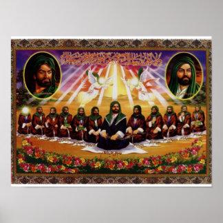 Pintura de 12 imanes póster