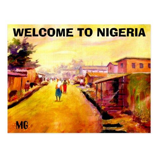 PINTURA de 5 copia, RECEPCIÓN A NIGERIA, MG Tarjetas Postales
