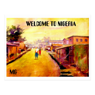 PINTURA de 5 copia, RECEPCIÓN A NIGERIA, MG Tarjeta Postal